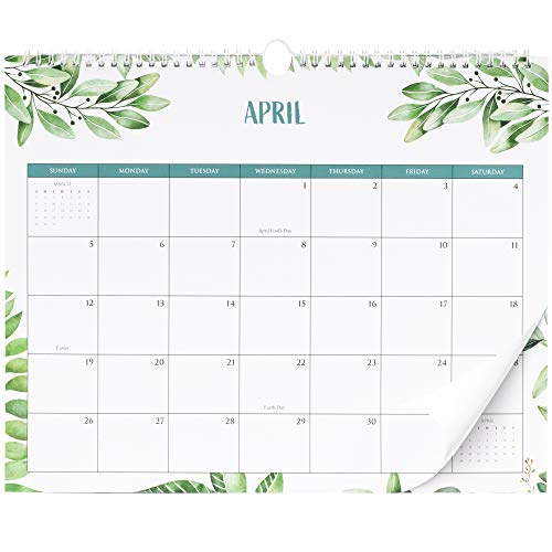 """Beautiful 2020 Greenery Wall Calendar - The Perfect Monthly Calendar for Your Wall - Unique 14.5"""" x 11.5"""" Greenery Calendar for Super Easy Planning"""