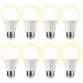 Element Classic by Sengled - 8 Pack - A19 60W Equiv. Soft White (2700K) Smart LED Bulb, Zigbee, Works with Amazon Echo Plus & SmartThings, Hub Required for Amazon Alexa & Google Assistant