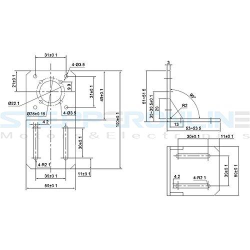 stepperonline mounting bracket for nema 17 stepper motor