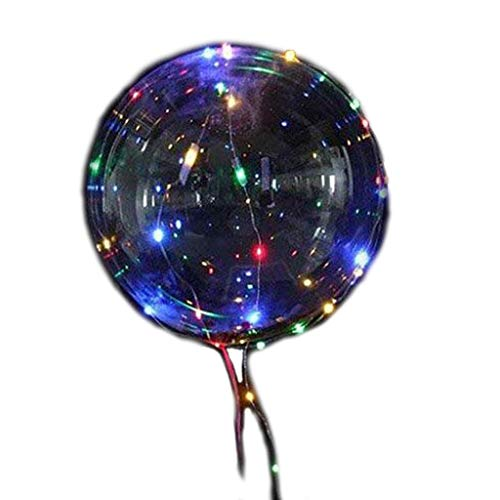 6 Pcs LED Balloons, Kicpot Transparent Colorful Light Up Party Balloons with 3M Color Lamp Line Light Glow in The Dark Party Supplies by Kicpot