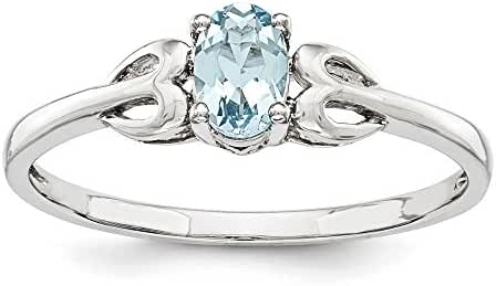 Sterling Silver Aquamarine Ring. Gem Wt- 0.44ct