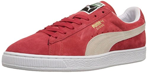 PUMA Suede Classic Sneaker,High Risk Red/White,6 M US Men's