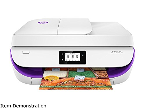 HP OfficeJet 4650 Wireless All-in-One Photo Printer, in White and Purple (Certified Refurbished) by HP (Image #2)