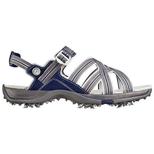FootJoy Women's Sport Golf Sandals (6, Grey/Navy-M)