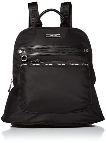 Calvin Klein Georgina Nylon Organizational Backpack, BLACK