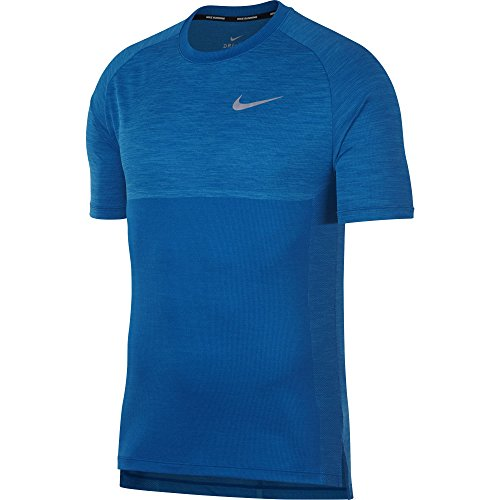 Price comparison product image NIKE Men's Dry Medalist Running Top Blue Nebula/Equator Blue XL