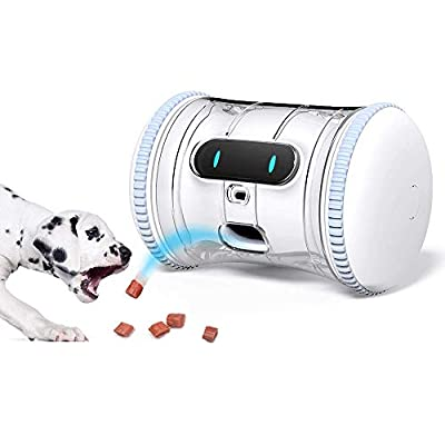 VARRAM-Pet-Fitness-Robot-Full-Package-Treat-Tossing-Schedule-Automatic-Drives-Manual-Play-via-App-Activity-Tracking-Interactive-Moving-Toy-for-Cats-Dogs