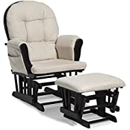 Storkcraft Hoop Glider and Ottoman Set Black/Beige Cleanable Upholstered Comfort Rocking Nursery  sc 1 st  Amazon.com & Amazon.com: Gliders Ottomans u0026 Rocking Chairs: Baby Products ...