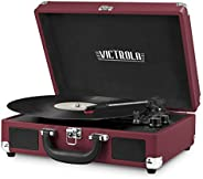 Victrola Vintage 3-Speed Bluetooth Portable Suitcase Record Player with Built-in Speakers | Upgraded Turntable