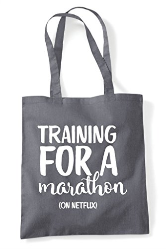 Shopper Dark For Netflix A On Bag Grey Training Tote Marathon 04A7x87q