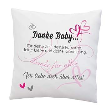 Liebeskissen Mit Spruch Danke Baby Deko Kissen Romantische