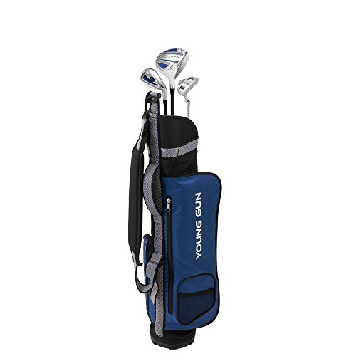 Young Gun ZAAP EAGLE BLUE Junior golf club Youth Set & bag for kids Ages - Handed Youth Golf Left Clubs