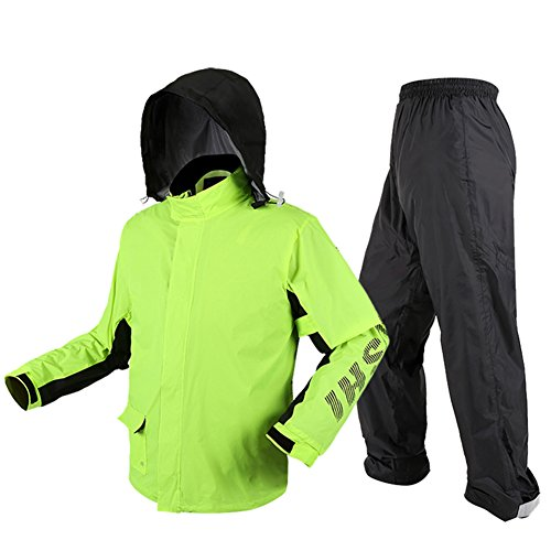 Pantalon Manteau De Fluorescent Slim À Ponchos Randonnée Jinrong Vert L'eau Hommes Adulte Équitation Pluie Imperméables Imperméable Costume qXxEIwS