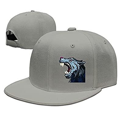 Art Head Wolf Solid Flat Bill Hip Hop Snapback Baseball Cap Unisex sunbonnet Hat.
