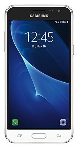 Samsung Galaxy J3 J320A Unlocked Smartphone, 16GB, 1.5GB RAM, U.S. Warranty (White) (Unlock Phones Samsung Galaxy)