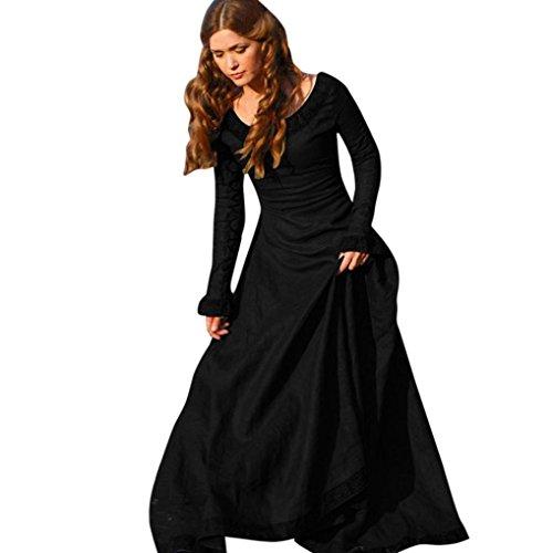 long black medieval dress - 8