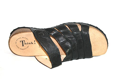 Think! - Pantuflas Mujer negro (SZ/KOMBI 09)