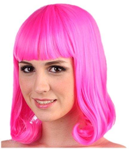 Hot Pink Flapper Wig - 3