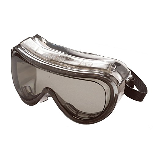 (High Impact Chemical Splash Safety Goggles 160 Series Protective Goggles, Gray / Clear Enfog)