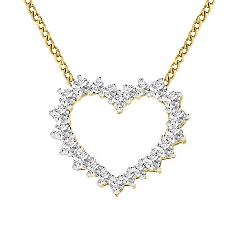 - 100% Pure Diamond Pendant Heart Necklace 1/2 ct IGI Certified Lab Grown Diamond Heart Pendant Necklace SI1-SI2-GH Quality 14K Real Diamond Yellow Gold Pendant (1/2 ct, Yellow Gold)
