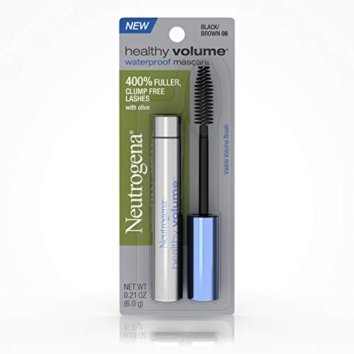 Neutrogena Healthy Volume Waterproof Mascara, Black/Brown 08,.21 Oz. (Pack of ()