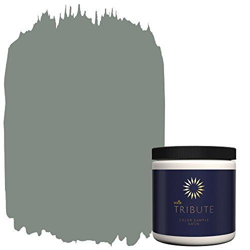 Sherwin Williams Satin (KILZ TRIBUTE Interior Satin Paint & Primer In One,  8-Ounce Sample, Lincoln Green (TB-68))