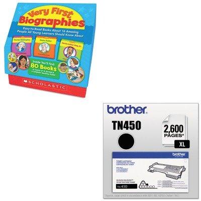 KITBRTTN450SHS0545172802 - Value Kit - Scholastic Very First Biographies (SHS0545172802) and Brother TN450 TN-450 High-Yield Toner (BRTTN450)