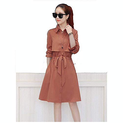 Bavero Eleganti Giacca Autunno Costume Windbreaker Fit Trench Manica D Solidi Outwear Fashion Casual Primaverile Lunga Cappotto Slim Donna Colori wqp0Yf8