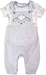 Fisher-Price Unisex-Baby 2pc Overall Set Overalls