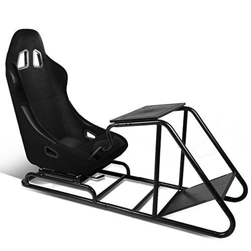 Bucket Racing Seat Simulator + Adjustable Seat Slider & Steering Wheel/Pedal/Gear Shifter Mount - Racing Seats Forza