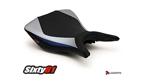 Luimoto Seat Covers for Yamaha R3 2015-2020 Black Red Tec-Grip Carbon Fiber Front Rear by Sixty61