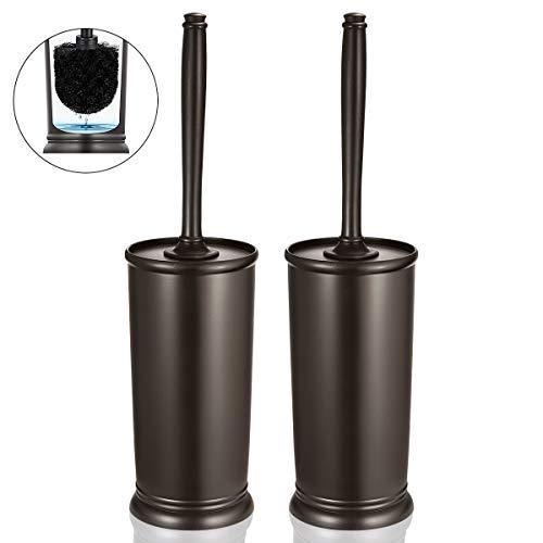 Homemaxs Toilet Brush and Holder 2 Pack 【2020 Upgraded】 Deep Cleaning Toilet Bowl Brush Set Ergonomic