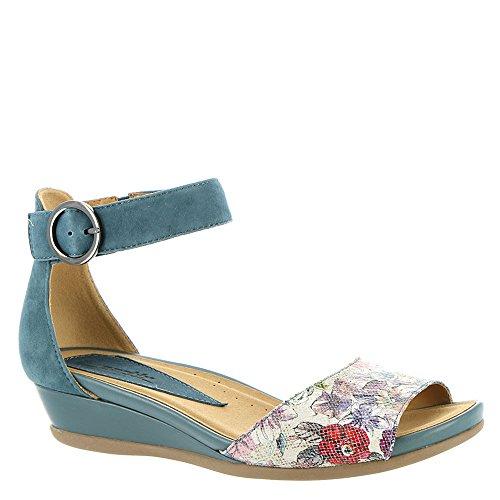 Sandali Con Cinturino Alla Caviglia Casual Da Donna In Tessuto Color Terra