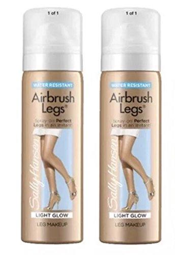 Sally Hansen Airbrush Legs, LIGHT GLOW, Spray-On, Travel Size 1.5 Oz, (2 Pack)