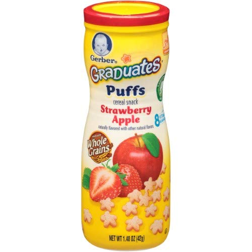 Gerber Puffs Strawberry Apple (Pack of 24)