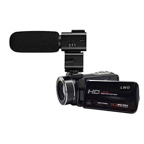 LWD WiFi 1080P Full HD Cámara de vídeo digital 30fps 24MP 16x Zoom Digital Cámara de vídeo con micrófono MIC-...