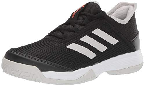 adidas Unisex-Kid's Adizero Club Tennis Shoe, Black/White/Grey, 13K M US Little Kid