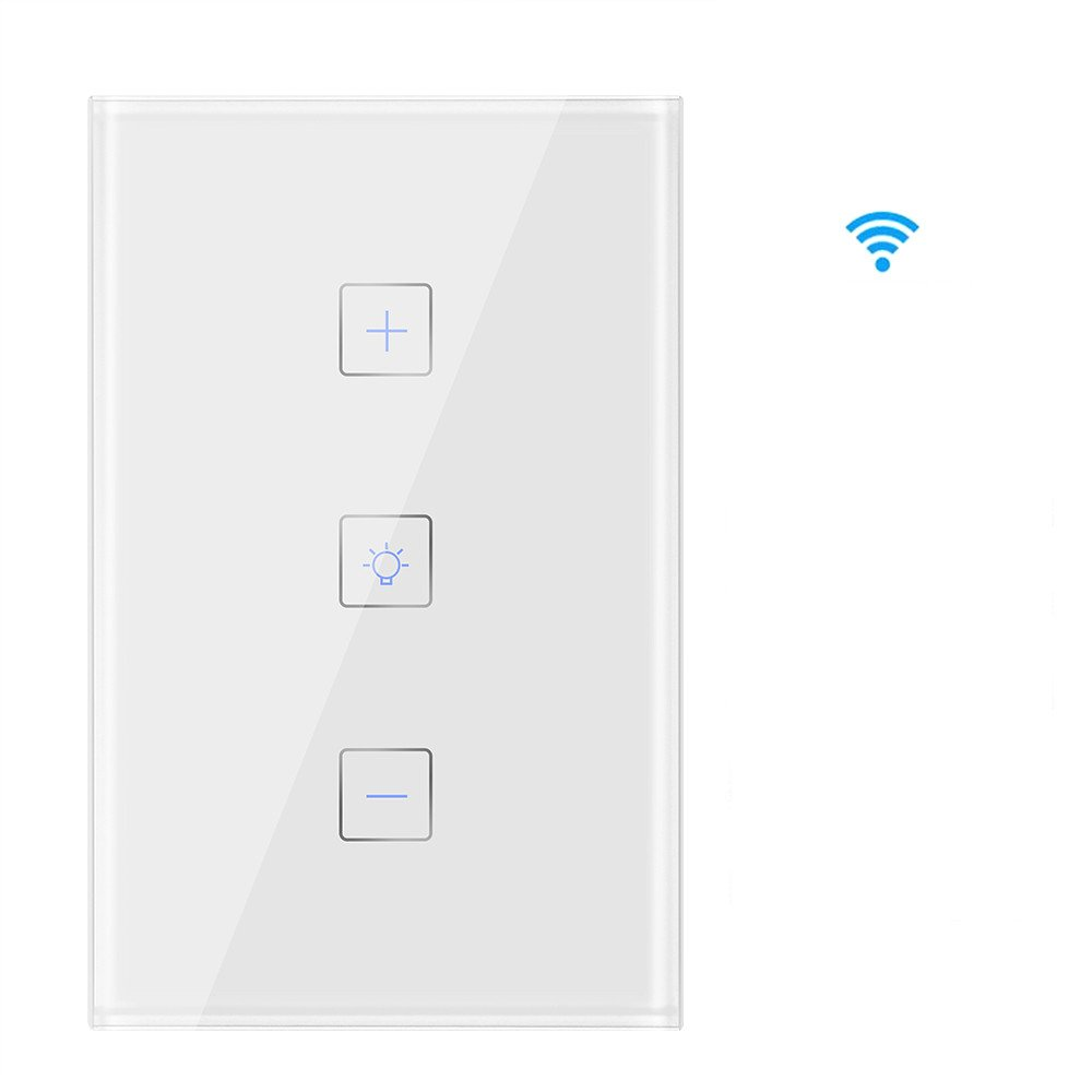 Clearance Smart WI-FI Light Switch-[2018Upgraded]-Wireless Dimmer Switch Works with Alexa, Google Assistant and IFTTT, Control Anywhere with Phone APP, No Hub Required, Timing Function (Touch Control)