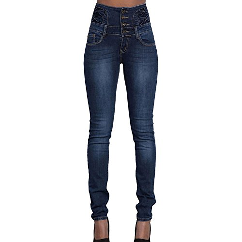 Jeans Large Blu Elasticizzati 2xl Taglia S Pantaloni Stretch Da Slim Donna Denim Fit Scuro 7Iw7q0gUY