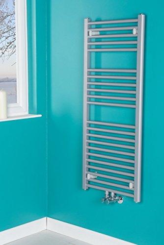 Handtuchheizkörper Badheizkörper Handtuchwärmer 1186x500mm Grau