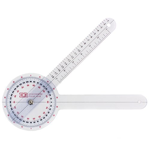 "Image of Ever Ready Plastic 12"" Goniometer 360 Degree ISOM- Top Quality"