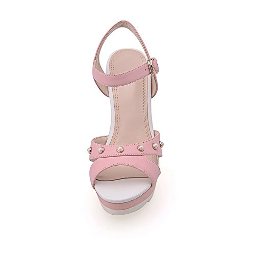 Rain Rivet 1TO9 Studded Solid Girls Soft Material Pink Sandals wqOZ7vOWn