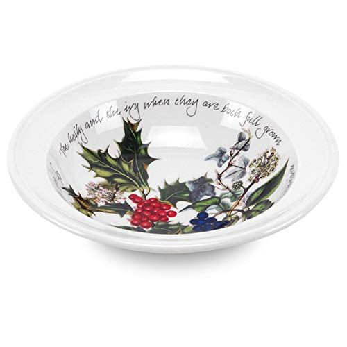 Portmeirion Holly and Ivy Oatmeal/Soup Bowls, Set of 6