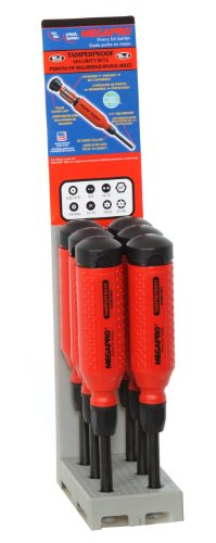 Megapro 151TP-PDM-S Display 15-in-1 Red/Black Tamperproof...
