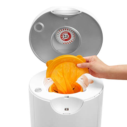 41PGl3mUlhL - Munchkin Arm & Hammer Diaper Pail Snap, Seal And Toss Refill Bags, Holds 600 Diapers, 20 Count