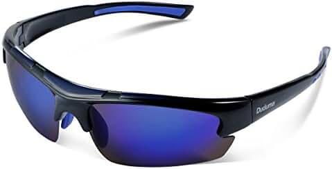 Duduma Polarized Designer Fashion Sports Sunglasses for Baseball Cycling Fishing Golf Tr62 Superlight Frame