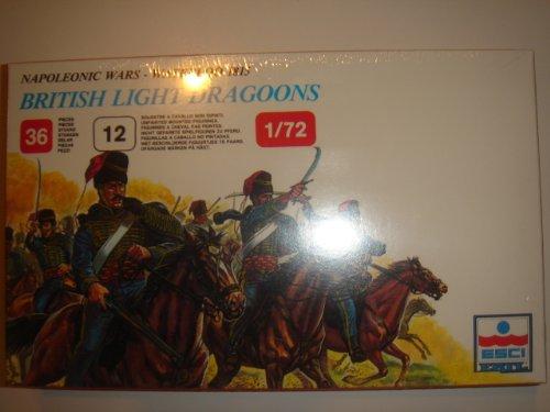 ESCI ERTL 1:72 Napoleonic Wars - Waterloo 1815 British Light Dragoons Model Kit #230