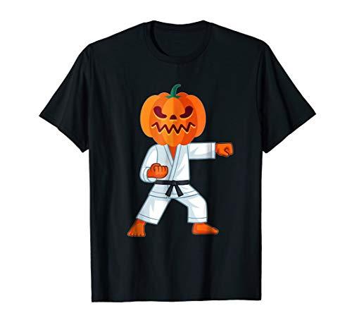 (Halloween T-Shirt Karate Fighter Pumpkin Head Scary Gift)