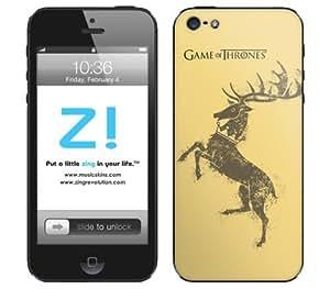 Zing Revolution Game of Thrones Premium Vinyl Adhesive Skin for iPhone 5, Baratheon S2 Image, MS-GOT80318