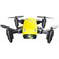 Mini Foldable Portable S9 RC Drone RC Quadcopter Altitude Hold 0.3MP 6-Axis Remote Control Drone With HD Camera Drone (yellow)